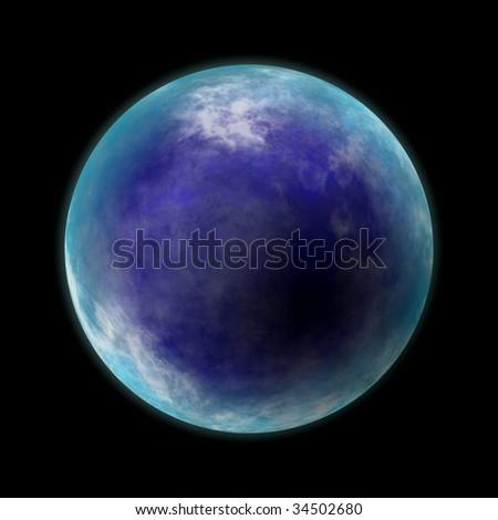 Blue planet - stock photo