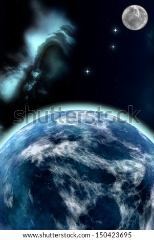 blue planet. Element s of this image furnished by NASA