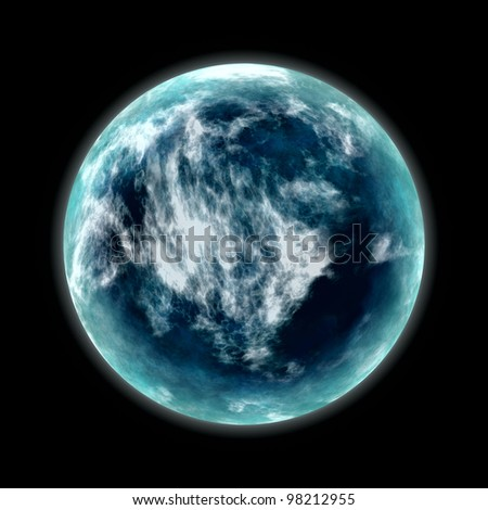 blue planet in space