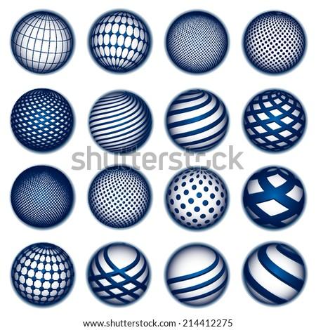 Blue planet symbols - stock photo