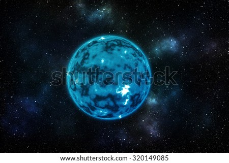 "Blue planet with star background ""Elements of this image furnished by NASA"""