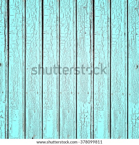 Blue plank background. Texture of painted old wooden boards - stock photo