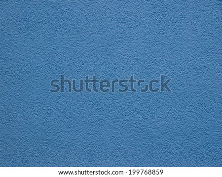 Blue plaster wall useful as a background
