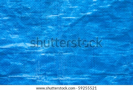 Blue plastic background