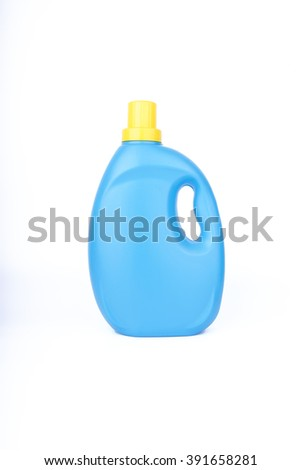 blue plastic container on isolated white
