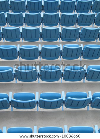 blue plastic seats