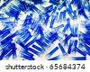 Blue plastic tubes - stock photo