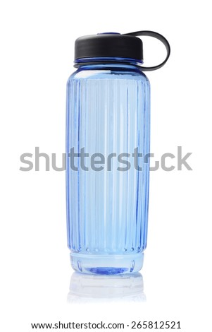 Blue Plastic Water Container On White Background  - stock photo