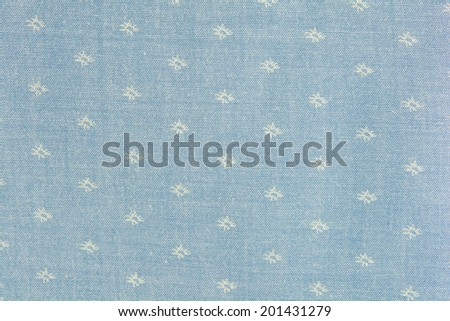blue polka dot fabric closeup. May use as background - stock photo