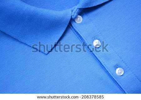 Blue Polo T-shirt. - stock photo