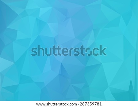blue polygonal background - stock photo
