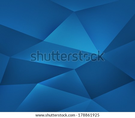Blue Polygons Texture - stock photo
