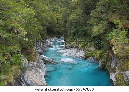 Blue Pool, New Zealand - stock photo