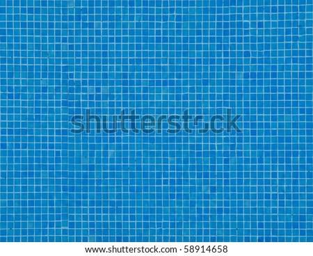Blue Pool Tile Background - stock photo