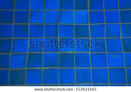 Blue pool water
