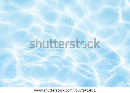 Blue pool water background - stock photo