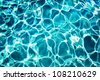 Blue pool water background texture - stock photo