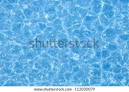 Blue pool water texture - stock photo
