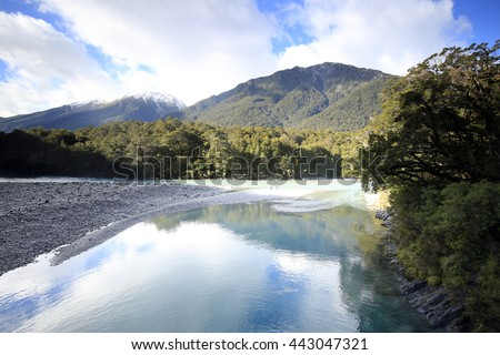 Blue Pools, Haast Pass,Mount Aspiring National Park - New Zealand