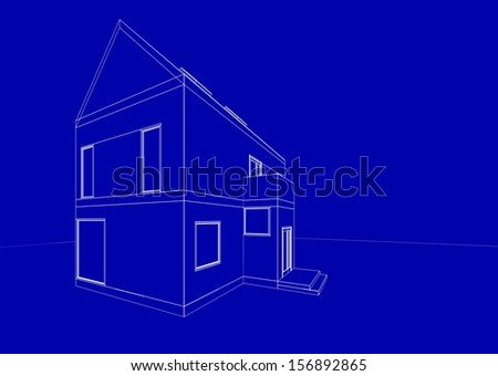 blue print architecture background