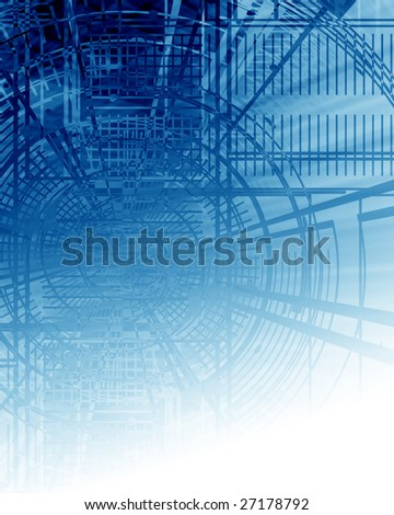 Blue print on a soft blue background - stock photo