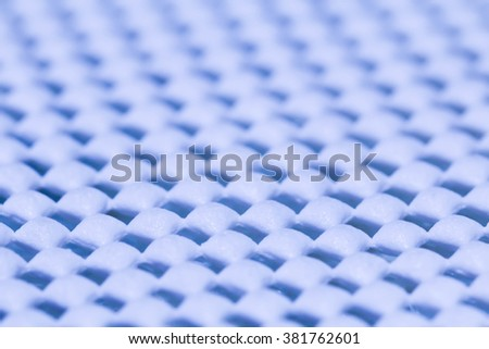 blue protect foam or sponge texture abstract background - stock photo