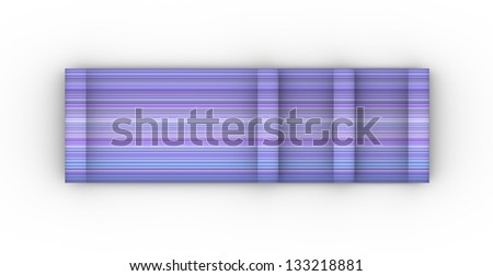 blue purple cylinder curl shape backdrop - stock photo