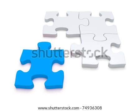 Blue puzzle piece - more variation in portfolio