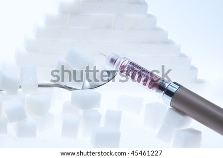 blue pyramid of sugar cubes