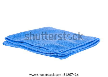 Blue rag on a white background - stock photo
