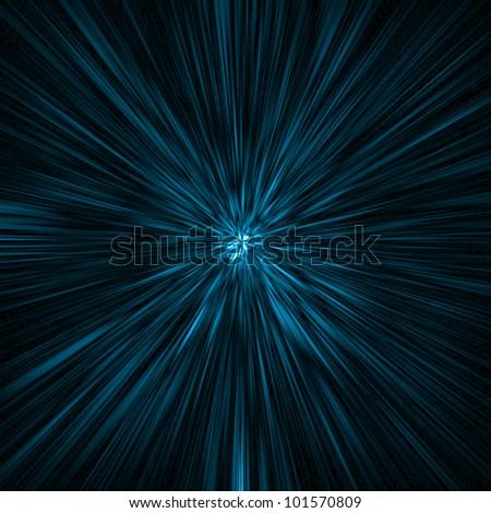 blue rays background - stock photo