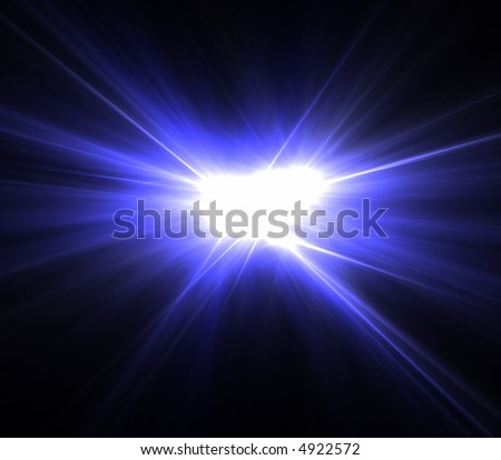 blue rays of light - stock photo