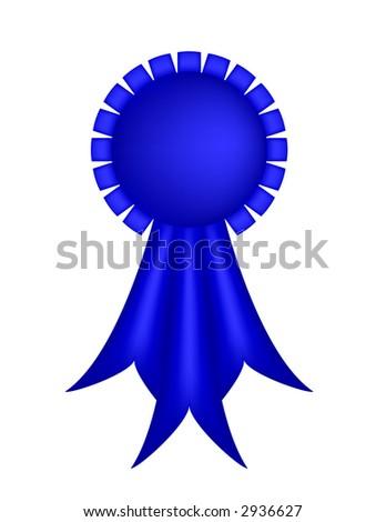 Blue Ribbon - stock photo