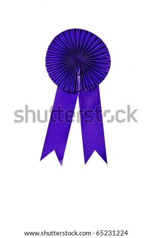 Blue ribbon isolate on white background - stock photo