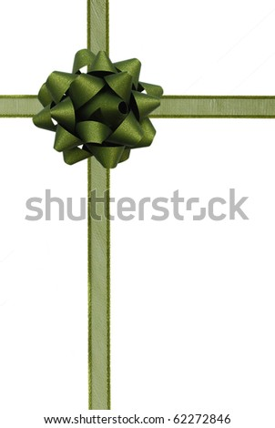 Blue ribbon over white paper - stock photo