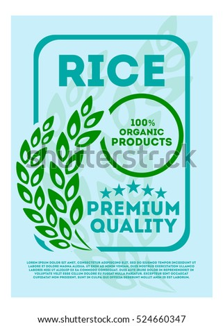 Blue Rice Tag Label Sticker Illustration Stock Illustration - Sticker layout template