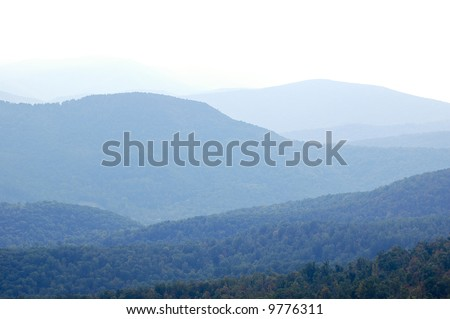 Blue Ridge Mountain rolling hills