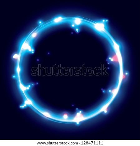 blue ring. frame background.(vector version also available in my gallery) - stock photo