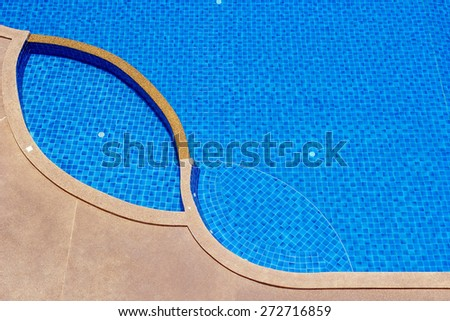 Blue ripped water in swimming pool. - stock photo