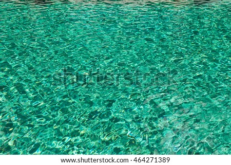 Blue ripped water in swimming pool