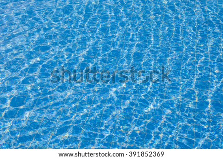 Blue ripped water in swimming pool,Thailand