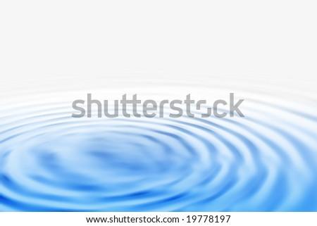 Blue ripple background - stock photo