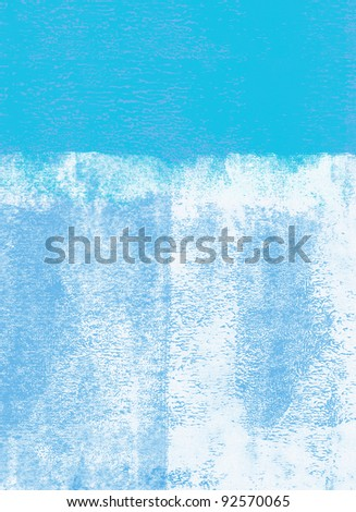 Blue rolled paint background - stock photo