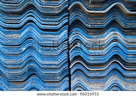 blue roof tile - stock photo