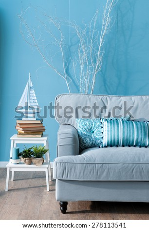 blue room marine concept - stock photo