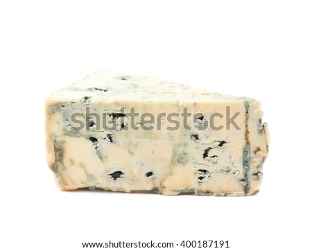 Blue roquefort cheese isolated