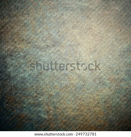 Blue rusty grunge background wall - stock photo