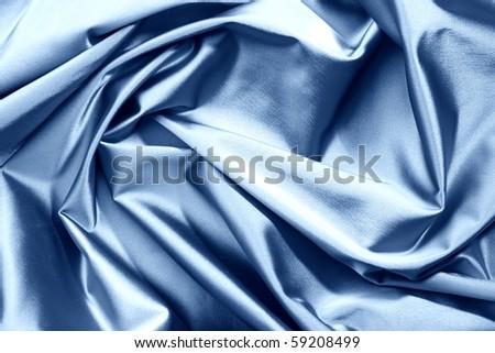blue satin background - stock photo