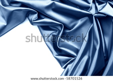 blue satin isolated - stock photo