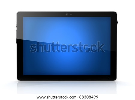 Blue screen digital pad isolated- own design - stock photo